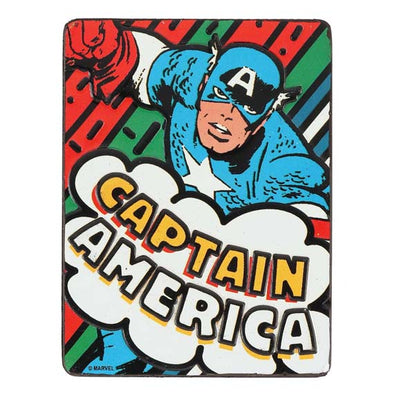 CAPTAIN AMERICA EMBOSSED TIN MAGNET
