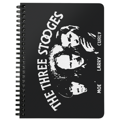 Three Stooges Opening Credits Spiral Notebook