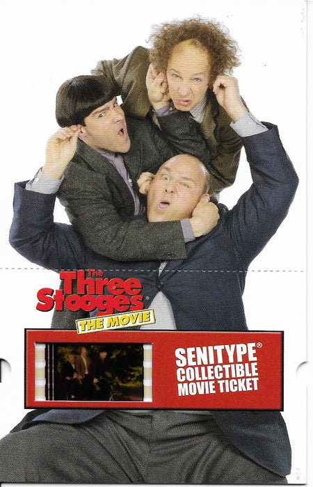 Three Stooges Collectible: Movie Ticket With Film Cell