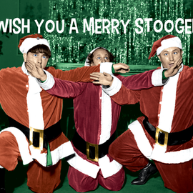 The Three Stooges Christmas Postcards - Bundle of 25 w/Envelope - READY TO SHIP