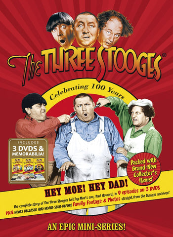 The Three Stooges Collector's DVD Series: Hey Moe! Hey Dad! - READY TO SHIP