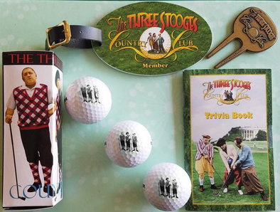 The Three Stooges Golf Ball Gift Set