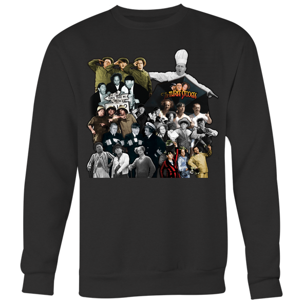 Three Stooges Picture Collage Sweatshirt