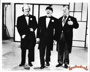 Three Stooges Original Glossy Promo Photo - Curly Joe On Stage 8X10