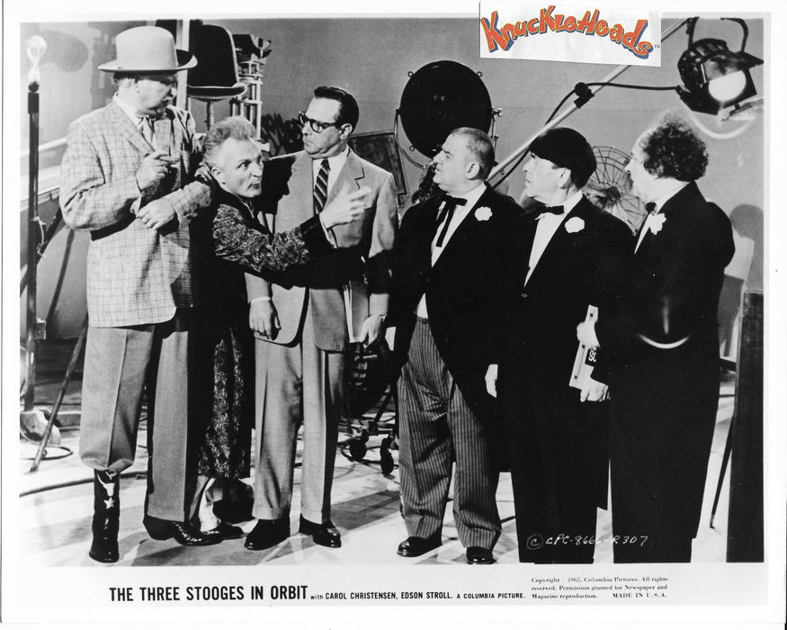 Three Stooges In Orbit Original Glossy Promo Photo - Emil Sitka 8X10