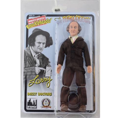 "The Three Stooges Action Figure: Dizzy Doctors Larry 8"" - READY TO SHIP"