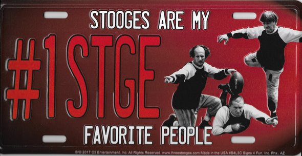 Three Stooges License Plate: Stooges Are My Favorite People