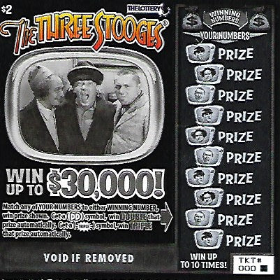 Three Stooges Novelty Lottery Tickets - 3 Pack