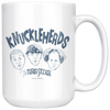 THREE STOOGES KNUCKLEHEADS LARGE 15 OUNCE MUG - FREE SHIPPING!