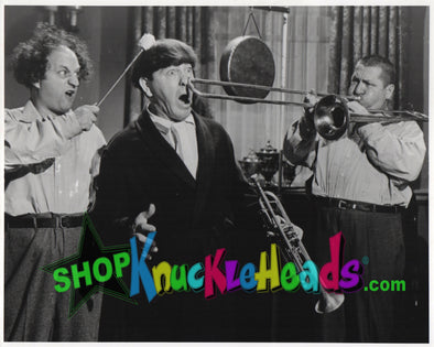 The Three Stooges TWO MAN QUARTET 8X10: #10 - READY TO SHIP