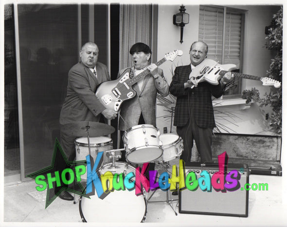 The Three Stooges ROCK AND ROLL 8X10: #5 - READY TO SHIP