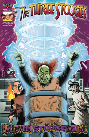 The Three Stooges Comic Book Series 7 /FrankenLarry Main Cover 1: Halloween Stoogetacular 2017