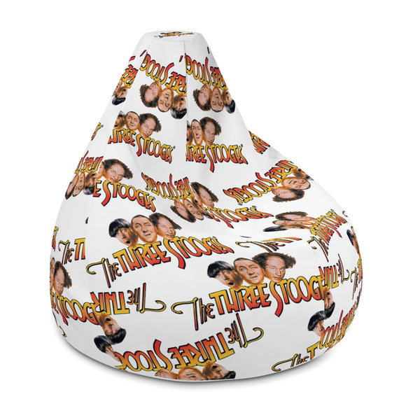 Three Stooges Scattered Logo Bean Bag Chair w/ filling - Free Shipping