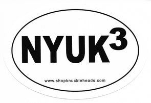 Three Stooges Oval Sticker / Auto Decal - NYUK3 - FREE SHIPPING