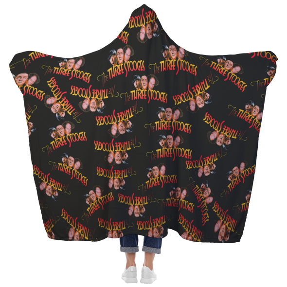 Three Stooges Hooded Sherpa Extra Large Blanket