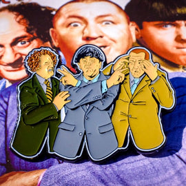 The Three Stooges Enamel Pin - Color - READY TO SHIP