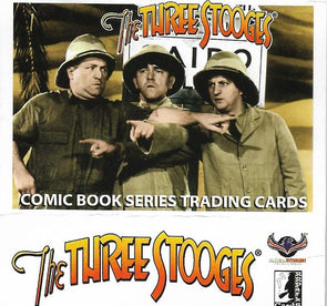 THREE STOOGES TRADING CARD COMIC BOOK SERIES 8 : FINAL SERIES