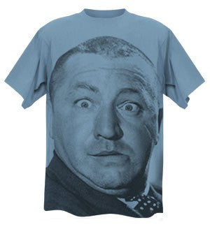 The Three Stooges T-Shirt: Big Curly - Blue  - AVAILABLE TO SHIP AFTER 3-4 BUSINESS DAYS PROCESSING TIME