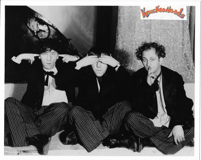 Three Stooges With Shemp On Stage Original Glossy Promo Photo