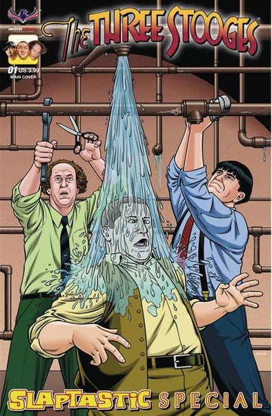 Three Stooges Comic Book Series 10 / Cover 1: Slaptastic, Plumbing