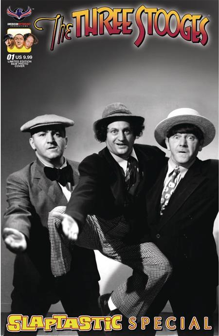 Three Stooges Comic Book Series 10 / RARE B/W Cover : Slaptastic Special LIMITED EDITION