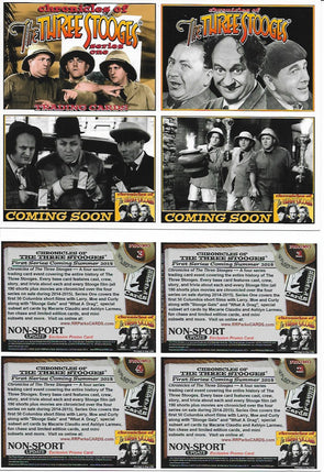 Three Stooges Trading Cards Uncut Promo Sheet Of 4 Series 1