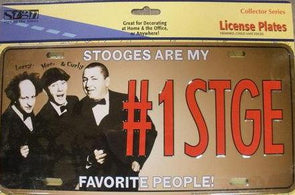 Three Stooges License Plate: #1 STOOGE - READY TO SHIP