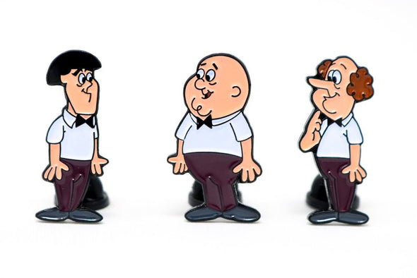 The Three Stooges Enamel Pin Set Of 3 - READY TO SHIP