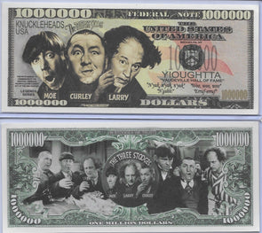 Three Stooges Funny Money $1,000,000 Bill