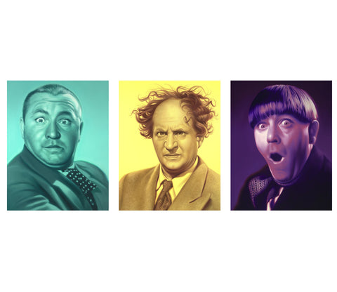 The Three Stooges Canvas Art (16in X 13in) - AVAILABLE TO SHIP AFTER 1 BUSINESS DAY PROCESSING TIME