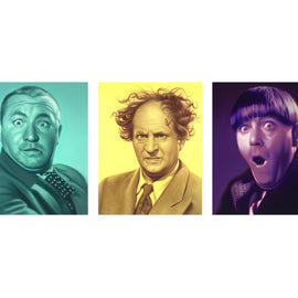 The Three Stooges Canvas Art (60in X 48in) - AVAILABLE TO SHIP AFTER 1 BUSINESS DAY PROCESSING TIME
