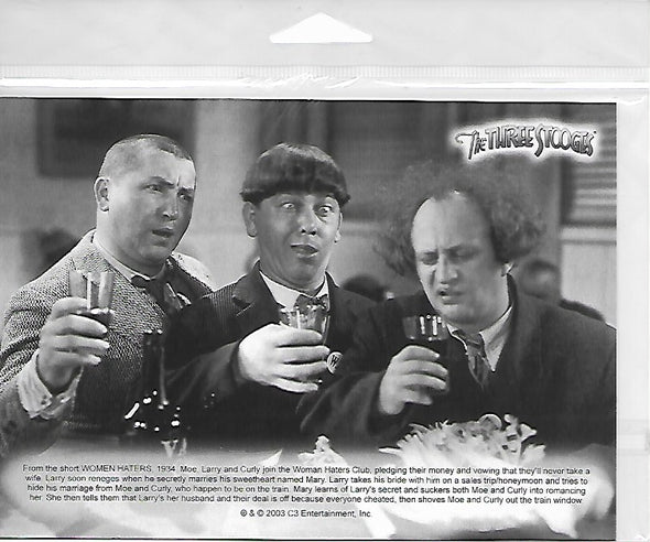 Three Stooges Commerotavie 5x7 Print With Certificate Of Authenticity - Three Little Pigskins