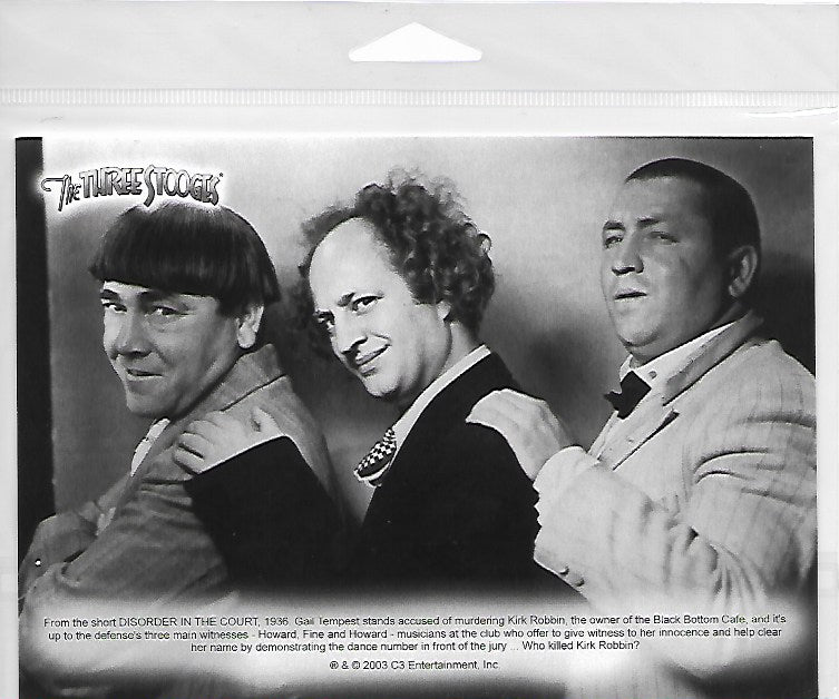 Three Stooges Commerotavie 5x7 Print With Certificate Of Authenticity - Disorder In The Court