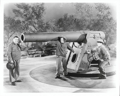 Three Stooges Curly Big Cannon Original Glossy Promo Photo 8X10