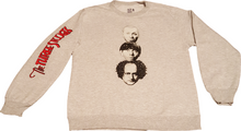The Three Stooges Sweatshirt: Coming and Going Heads - Grey - READY TO SHIP