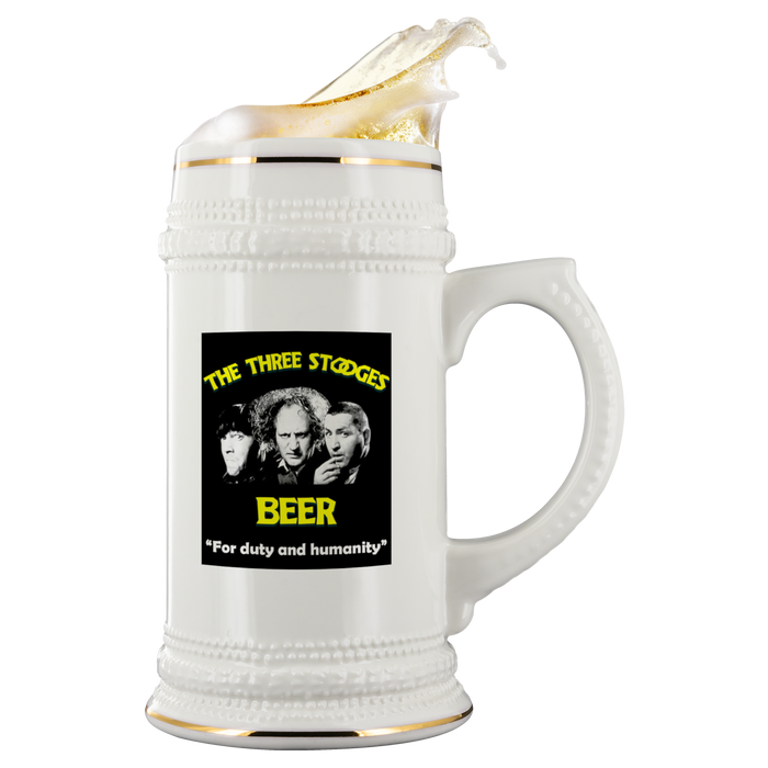 Three Stooges Large Beer Stein - Free Shipping