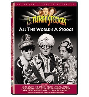 The Three Stooges DVD: All The World's A Stooge - READY TO SHIP