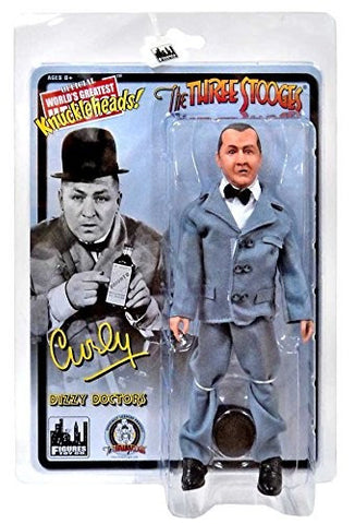 "The Three Stooges Action Figure: Dizzy Doctors Curly 8"" - READY TO SHIP"