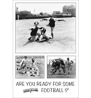 The Three Stooges Poster: Football - READY TO SHIP