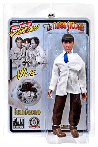 "The Three Stooges Action Figure: Fuelin' Around Moe 8"" - READY TO SHIP"
