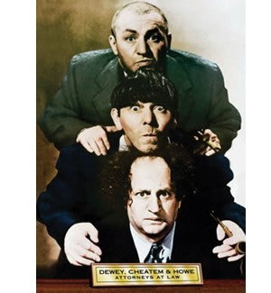 The Three Stooges Magnet: Dewey Cheatem and Howe - READY TO SHIP
