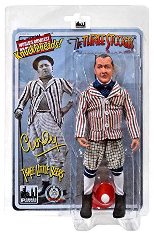 "The Three Stooges Action Figure: Three Little Beers Curly 8"" - READY TO SHIP"