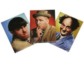 The Three Stooges Magnets: Larry, Moe and Curly - Set of 3 - READY TO SHIP