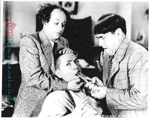 The Three Stooges 8X10 TOOTH PULL: #38 - READY TO SHIP