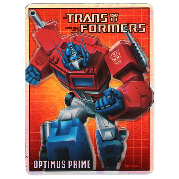 TRANSFORMERS OPTIMUS PRIME EMBOSSED TIN MAGNET