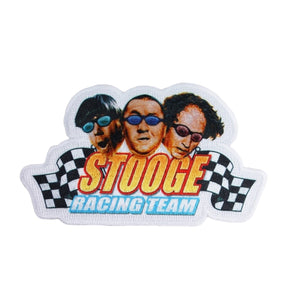 The Three Stooges Iron On Patch: Stooge Racing - READY TO SHIP