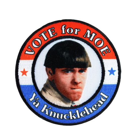 The Three Stooges Iron On Patch: Vote For Moe - READY TO SHIP