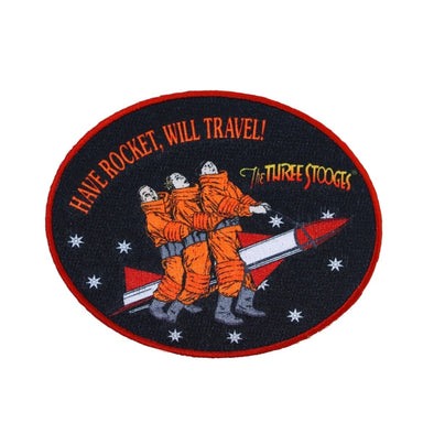 The Three Stooges Iron On Patch: Have Rocket Will Travel - READY TO SHIP