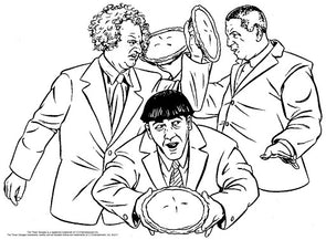 Free Three Stooges Coloring Pages