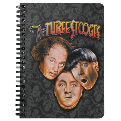 Three Stooges Spiral Notebook - Big Head Logo Free Shipping